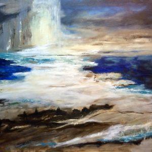 Akryl på lærred, 80x100 cm, Pris: 5.000 kr.